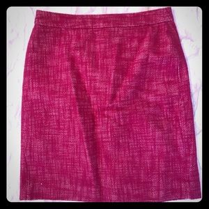 Banana Republic pink tweed skirt 4